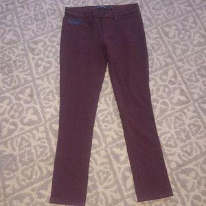 Calvin Klein Jeans Brand burgundy Jeggings